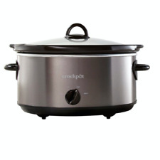 New 6 Quart Crock Pot Slow Cooker Manual Setting Cooking Small Kitchen Appliance