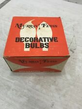 Vintage Candelabra Light Bulbs Lamp 40W Set Of 24 Nos Murray Feiss in Box Clear