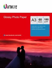 A3 Inkjet Photography Paper High Glossy Photo Paper 180Gsm - 60Sheets Uinkit
