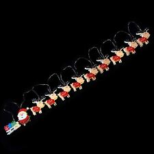 Christmas Santa Sleigh Reindeer Novelty Warm White LED Battery String Lights