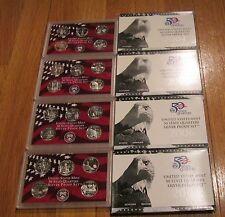 2000 01 02 03 04 05 06 2007 U.S. Mint 8 Silver Quarter Proof Set No Box/COA