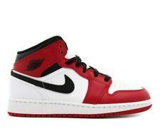 Nike Air Jordan 1 Mid Chicago White (GS) - 554725-173