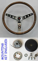 67-68 Pontiac GTO Firebird LeMans Grant Wood Steering Wheel Walnut 15""