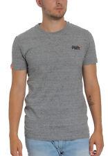 Superdry Herren T-Shirt ORANGE LABEL VNTGE EMB SS TEE Steel Grit Grau