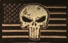 USA FLAG PUNISHER TACTICAL SKULL MILITARY NRA MOTORCYCLE IRON/SEW ON PATCH K-24