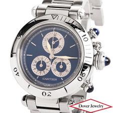#1352 Quartz Mens Watch Nr Cartier 'De Pasha' Stainless Steel