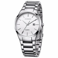 CURREN Fashion Men's Stainless Steel Date Waterproof Sport Wrist Quartz Watch AU