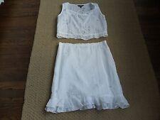 ABS by Allen Schwartz white 2 piece dress   Sz Petite M