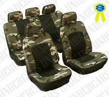 Camo Car Seat Covers Hunting Full Set Airbag Compatible Camouflage Nature