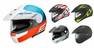 Schuberth E1 Adventure Motorrad Helm 3 Position Peak & Antenne Sprechanlage