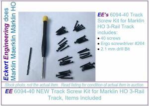 EE 6094-40 NEW Track Screw Kit f Marklin HO 3-Rail Track 3/4inch 40 screws 7299