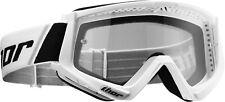 Thor Combat Motocross MX DH Mountain Bike Enduro Helmet Goggles - White