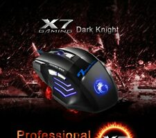 X7  USB Wired Gaming Mouse 5500 DPI 7 Buttons LED Backlight Optical Computer