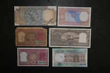 Lot of 6 India Banknotes 31 Rupees Total 2 Ten Notes 1 Five Note 3 Two Notes