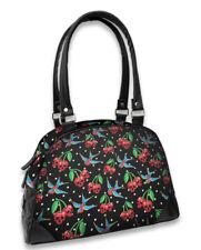 Liquor Brand Cherry Skulls Birds Black Classic Bowling Purse Bag LB-BOW-00051