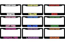 Custom Personalized License Plate Frame Color Choice
