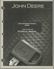 JOHN DEERE LAWN AND GARDEN TRACTORS GX355 TECHNICAL MANUAL
