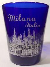 MILAN ITALY COBALT BLUE SHOT GLASS SHOTGLASS