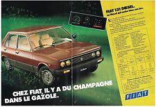 PUBLICITE ADVERTISING  1982   FIAT   131 DIESEL  (2 pages)