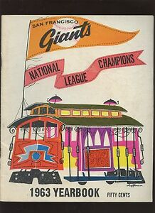 1963 MLB Baseball San Francisco Giants Yearbook EX+