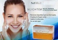 2ea NLIGHTEN KOJIC PAPAYA BAR/SOAP with Glutathione 135g by Nworld