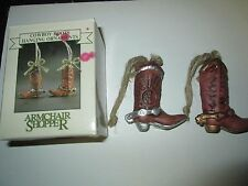 Cowboy Boots Hanging Ornaments by Armchair Shopper