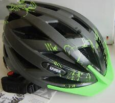 UVEX I-VO CC BICYCLE BIKE HELMET BLACK / GREEN MATTE 52 - 57cm MADE GERMANY BNIB