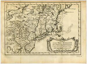 Antique Print-NEW YORK-PENNSYLVANIA-USA-Bellin-Schwabe-1758