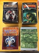 Collection of Vintage Magic the Gathering Deck Boxes Ultra Pro Arena League