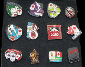 CANADA 1994 - 2018 Olympic NOC TEAM 12 pin different designs scarce boxed set