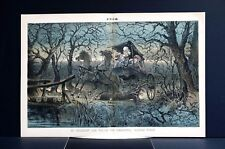 Haunted Forest 1884 UNPLESANT CARRIAGE RIDE HIDDEN FACES GHOSTS of PAST Art Puck