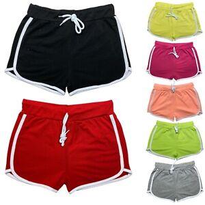 Girls Shorts Plain Hot Pants School Cotton Kids Dance Gym Summer Holiday Sports