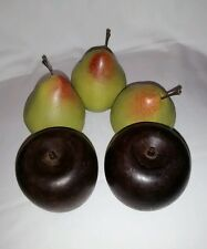 Fake Fruit Pears APPLES Artificial FAUX / Display Props ~ 5 Piece Pear and Apple