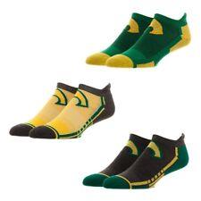 Aquaman 3 Pairs Men's Athletic Active Ankle Socks Set Dc Comics Justice League