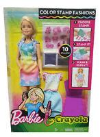 Barbie Crayola Mode-Set mit farbigen Stempeln & Stempelvorlagen zum Basteln NEU