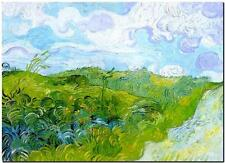 Vincent Van Gogh *FRAMED* CANVAS ART Green Wheat fields 18x12""