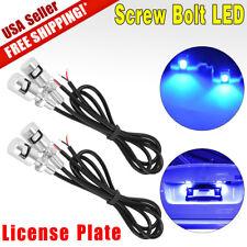4x LED Motorcycle Car License Plate Screw Bolt Bulbs Light Ultra Blue 12V