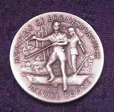 """DANIEL BOONE~FOUNDING OF BOONESBOROUGH"" 36 gr .999 FINE SILVER ART ROUND *LOOK*"