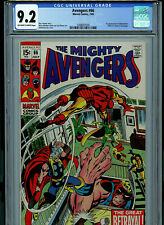 Avengers #66 CGC 9.2 White Pages Marvel 1969 1st adamantium Amricons k23