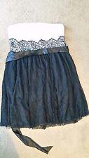 Dream Diva Black & White lace strapless formal dress sz16 BNWT free post E3
