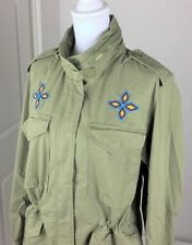 Denim & Supply Ralph Lauren Women Beaded Military Army Field Jacket Olive S M L