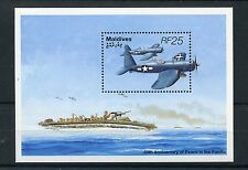 Maldives 1995 MNH WWII WW2 VJ Day 50th Peace in Pacific 1v S/S Aviation Stamps