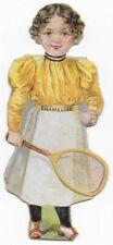 1890's Enameline Bryn Mawr College Tennis Player Victorian Trade Card