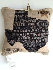 USA Texas Decorative Throw Pillow Throw Pillow