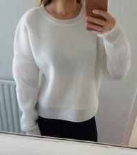 NEW J Crew Collection White Mesh Sweatshirt Jumper Size L