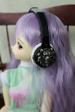 BJD Doll Dollfie Soundplay 1/4 1/6 Scale MSD Headphones Alpha Lion White NEW