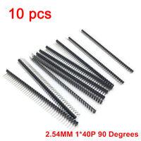 10x 40 Pin 90 Grad Header L Stiftleisten 2,54mm Arduino Raspberry Steckerleiste