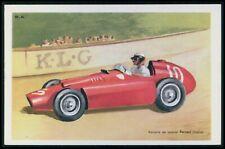 Ferrari Italy Automobile motor racing car race original 1950s Tobler postcard