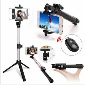 BT Remote Control Extendable Selfie Stick Monopod Folding Tripod for Cell Phone