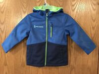 Free Country Boys Size 4  Full Zip Hooded Softshell Jacket, blue